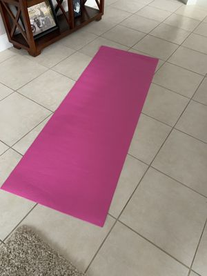 Pink roll up foam yoga exercise workout mat! Very clean unused. Dimensions: 24x68in for Sale in Wellington, FL