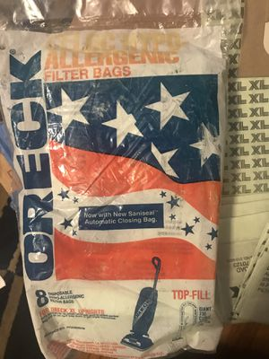 16 ORECK XL Celoc hypo-allergenic vacuum bags for Sale in Belmont, MA