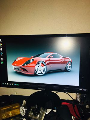 Dell desktop computer with 22 inches Samsung monitor for Sale in Dallas, TX