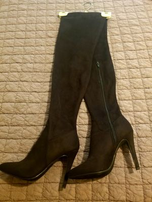 Black Suede-Tall boots. In great condition! Size (7) for Sale in Downey, CA