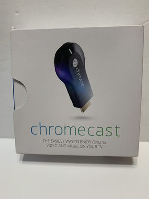 Google Chromecast (1st Generation) HDMI Media Streamer - Black (H2G2-42) for Sale in Lakeland, FL