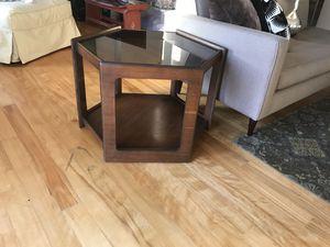 Glass top, retro end table for Sale in Boston, MA