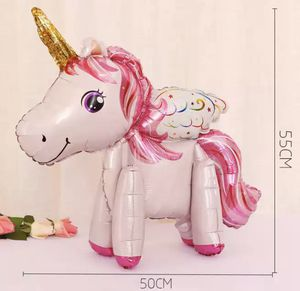 1 piece 55 x 50cm and pink pony 3D unicorn balloon 3D for Sale in Linden, NJ