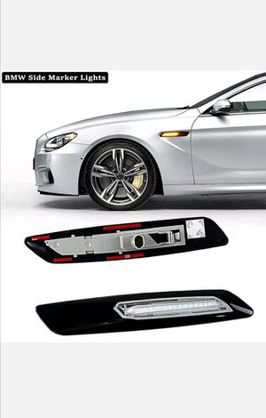 Amber LED Side Marker For BMW E60 E82 E83 E88 E90 E91 Black Smoke Lens F10 Style for Sale, used for sale  Arlington, TX