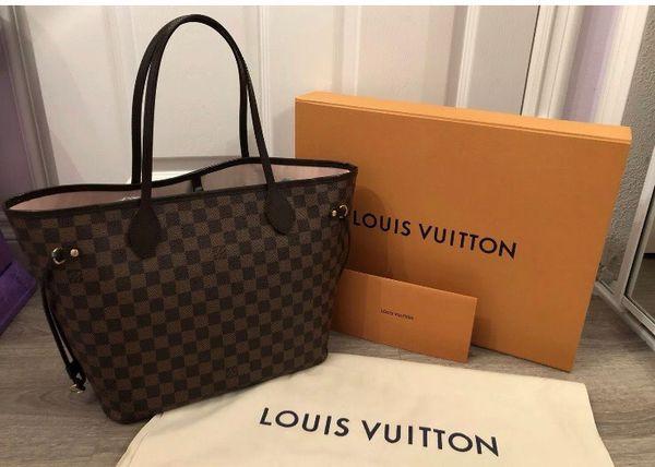 Louis Vuitton Neverfull MM Damier Ebene Rose Ballerine