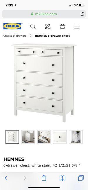 Ikea hemnes tall dresser for Sale in Ridgefield Park, NJ