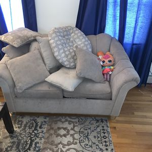 Living Room 4 Piece Set: Sofa, Love Seat, Recliner, End Table for Sale in Northbridge, MA