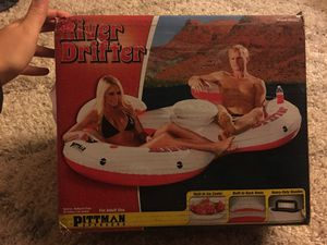 2 person inflatable tube with cooler, never used for Sale in Citrus Heights, CA