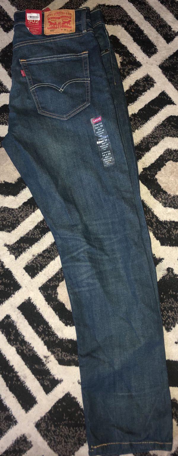 Brand New Men's Levi's 502 Jeans 34-32