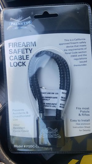 Firearms cable lock for Sale in Portsmouth, VA