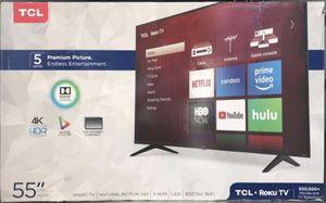 "55"" 4k Roku smart TCL led tv for Sale in Norwalk, CA"