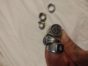 Stainless. Steel biker rings..get them all for Sale in Hyattsville, MD
