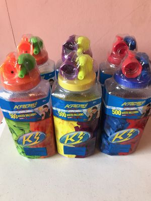 500 count water balloon containers with filler caps for Sale in Lebanon, PA