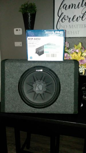 10 inch kicker and alpine 4 channel for Sale in Roseville, CA