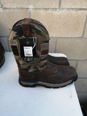 Brand new Ariat work boots. Size 9D. Waterproof. Soft toe. for Sale in Riverside, CA