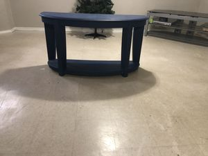 Blue half circle table for Sale in Detroit, MI