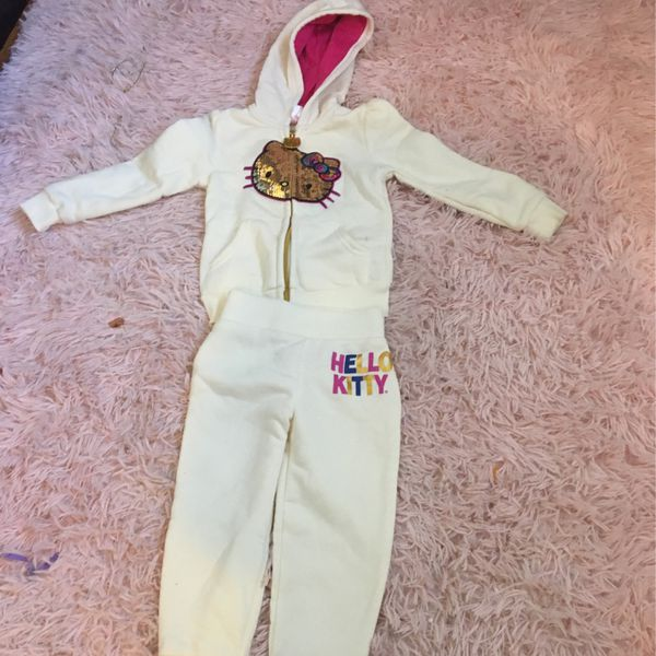 Hello Kitty Sweats And Jacket For Kids Size 2 T