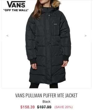 Vans Puffer Jacket/Parka (Black) for Sale in South Euclid, OH