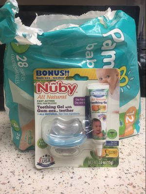 Diapers size 4 and 6 and pacifier for Sale in Oxnard, CA