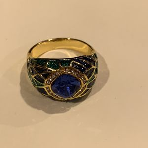 Green And Blue Gold Ring for Sale in Ronkonkoma, NY