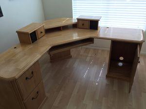 Corner office desk with file cabinets for Sale in Chula Vista, CA