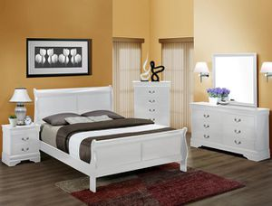 Brand new white color queen size complete bedroom set for Sale in Takoma Park, MD
