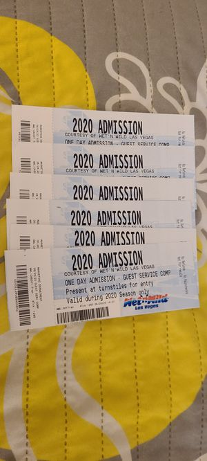 Wet n wild tickets for Sale in Las Vegas, NV