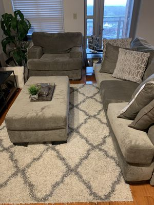 Excellent Condition Grey Sofa and Love Seat Set for Sale in Silver Spring, MD