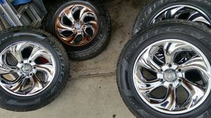 """Wheels and tires 18"""" 6 lug for Sale in Riverside, CA"""
