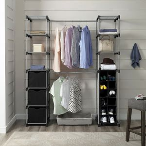 Mainstays Closet Organizer, 2-Tower 9-Shelves for Sale in Houston, TX