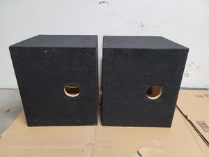 two 12 inch subwoofer box for kicker Rockford Fosgate orion alpine pioneer Kenwood skar for Sale in ROWLAND HGHTS, CA