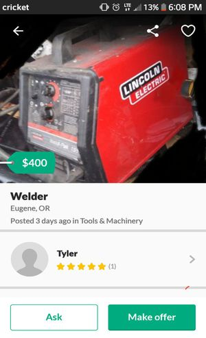 Welder lincoln sp155 weldpak for Sale in Eugene, OR