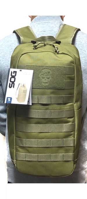 NEW! Green Tactical military style molle backpack travel work gym hiking biking school bag for Sale in Carson, CA