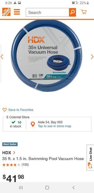HDX 35 ft. x 1.5 in. Swimming Pool Vacuum Hose for Sale in Orlando, FL