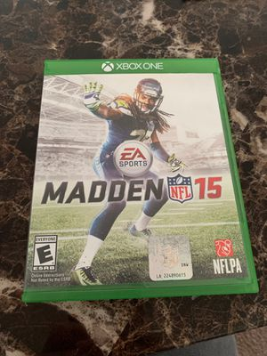 Xbox One Game Madden NFL 15 for Sale in Stafford, VA