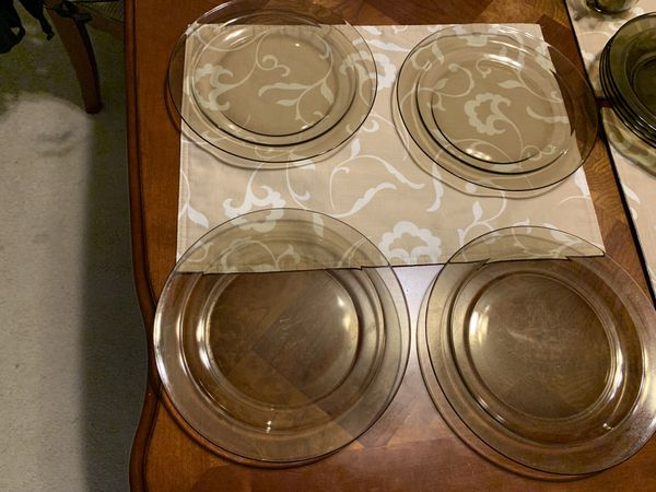 Pyrex Visions Amber Brown 32-piece Dining Set - $175.00/OBO