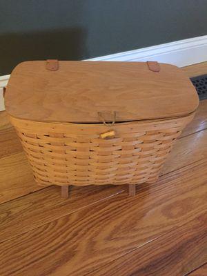 Longaberger magazine basket for Sale in Oxford, CT