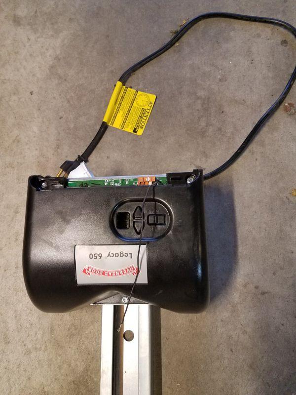 Overhead garage door motor and remote