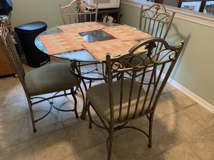 Glass kitchen table set for Sale in Yardley, PA