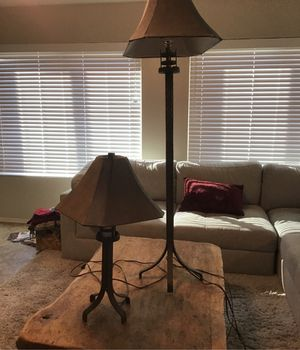 Floor and table lamp set for Sale in Glendale, AZ
