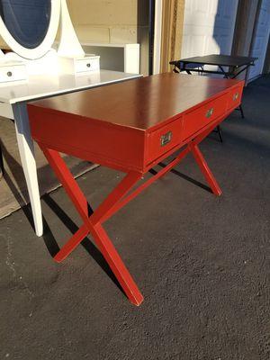 Desk, Table Campaign Wood Writing Desk for Sale in Rancho Santa Margarita, CA