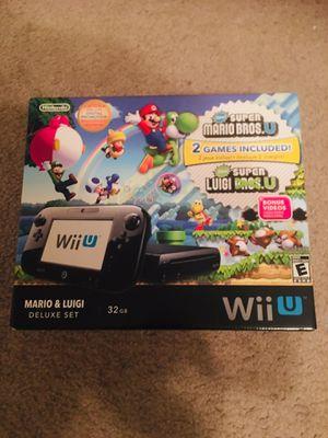 NEW Nintendo Wii U Mario & Luigi Deluxe Set 32gb Black Handheld System Console for Sale in Dallas, TX