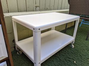 White Metal TV Stand or Coffee Table for Sale in San Diego, CA