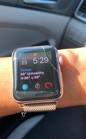 Apple Watch series 2 scratch on the screen - working normal. for Sale in Tampa, FL