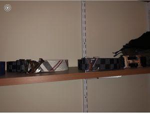 2 Louis Vuitton belts 1 hermes for Sale in Fairfax, VA