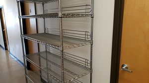 Heavy Duty 6 Shelf Wire Shelving on Casters for Sale in Eugene, OR