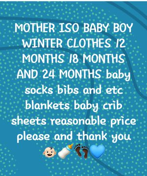 Mother in need of baby boy items for Sale in Cleveland, OH