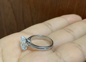 925 sterling silver princess cut ring, size 6 for Sale in Whittier, CA