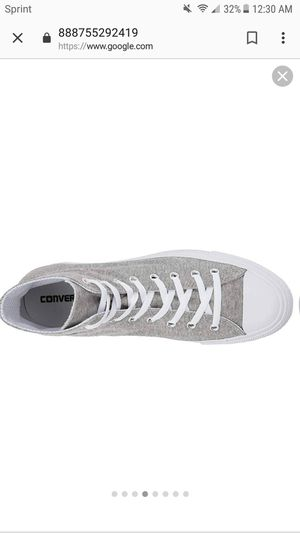 Converse grey hi tops New in box for Sale in Queens, NY