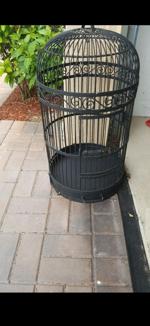 29x15 SOLID VINTAGE HEAVY WROUGHT IRON BIRD CAGE for Sale in Delray Beach, FL